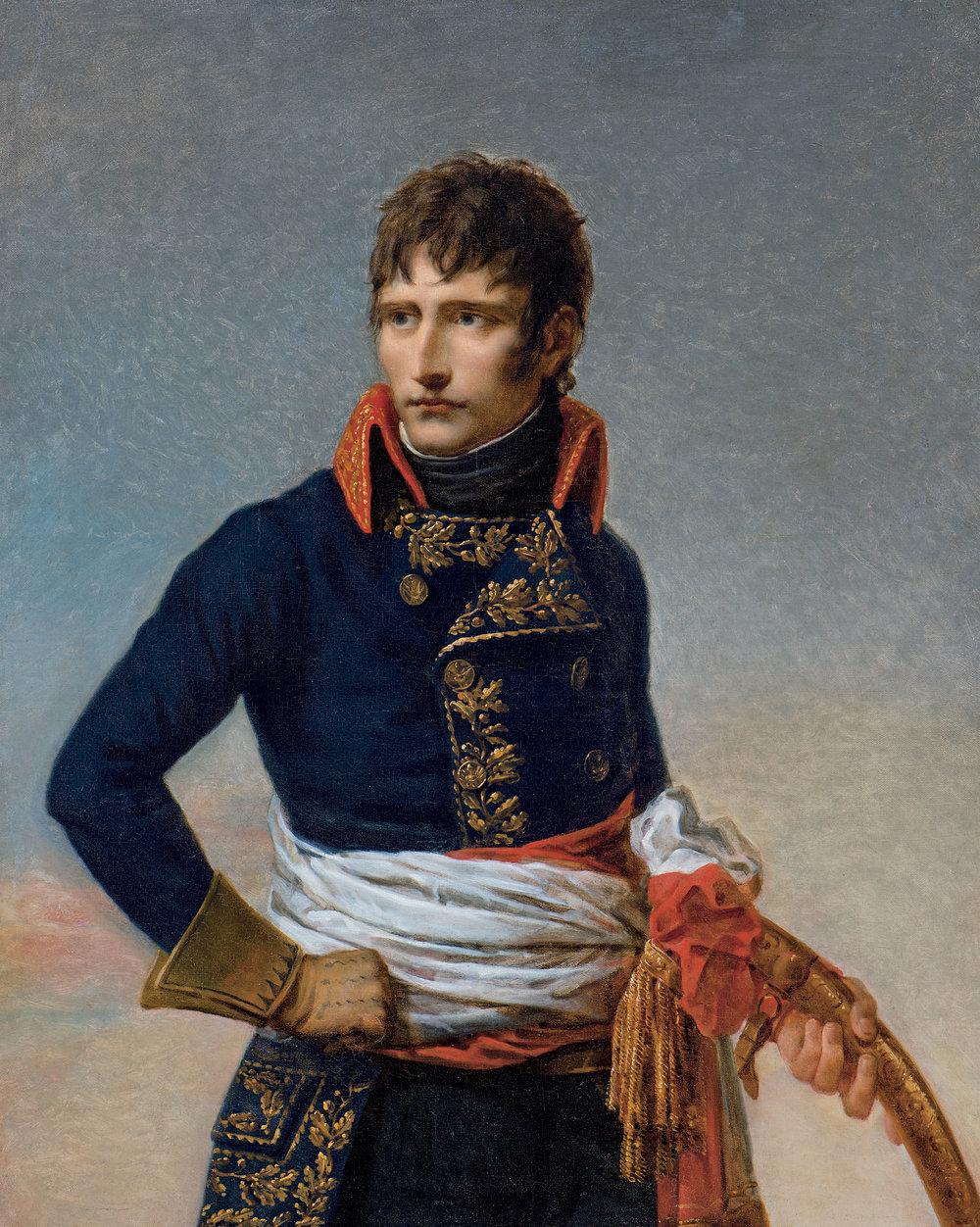 Portrait de Napoléon Bonaparte, Premier consul, en uniforme de général de l'Armée d'Italie, de Andrea Appiani, 1801,óleo sobre tela. Montreal, colección particular. Fotografía MBAM, Christine Guest