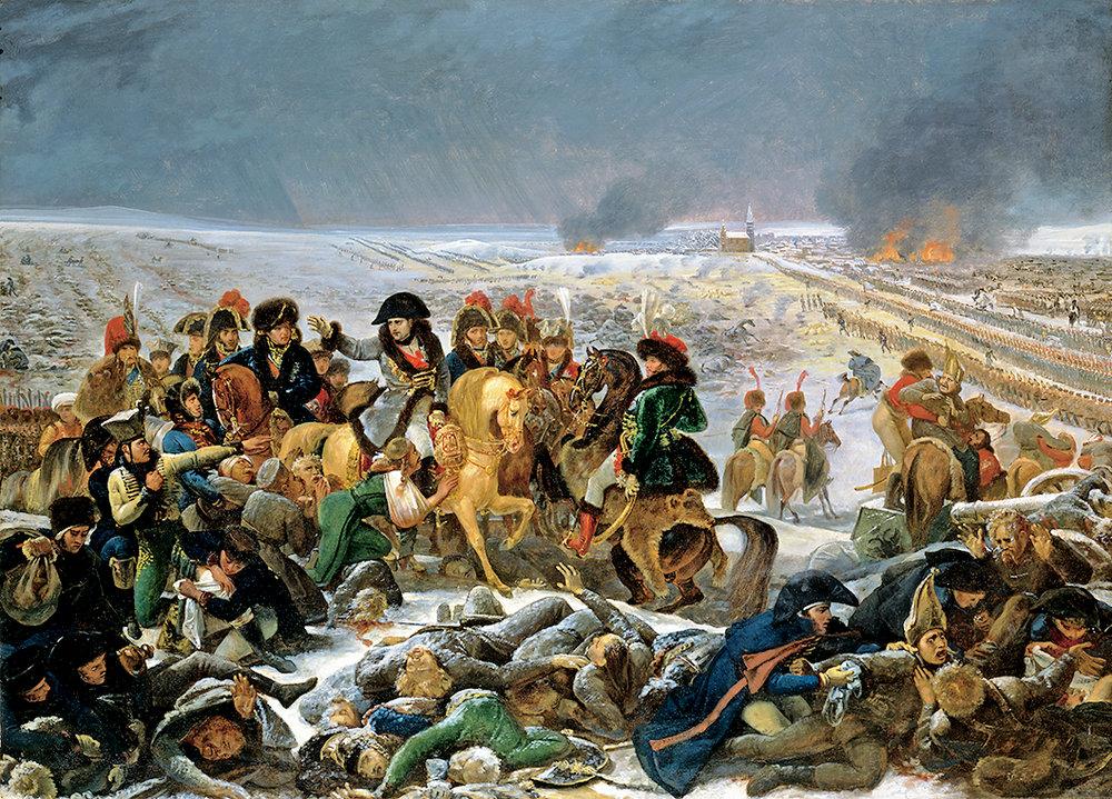 Napoleón en el campo de batalla de Eylau,  boceto para la pintura expuesta en el salón de 1808, de Antoine-Jean Gros, 1807, óleo sobre tela. Toledo Museum of Art, adquirido gracias al Libbey Endowment, donación de Edward Drummond Libbey