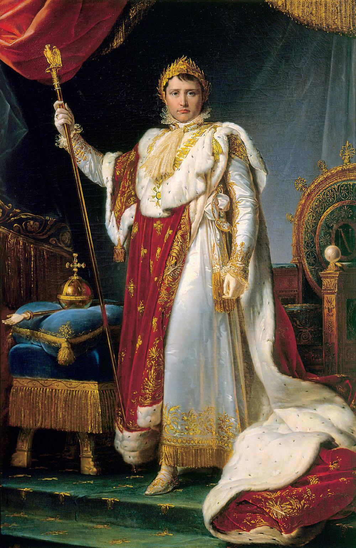 Retrato de Napoleón, Emperador de los franceses, en traje ceremonial, de François Gérard, 1805, óleo sobre tela.Château de Fontainebleau, musée Napoléon Ier. Photo © RMN-Grand Palais / Art Resource, NY / Gérard Blot.