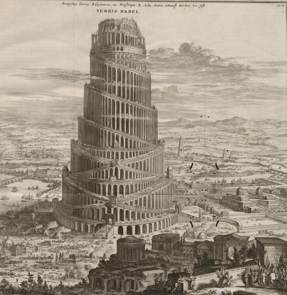 Turris Babel, autor desconocido, 1679