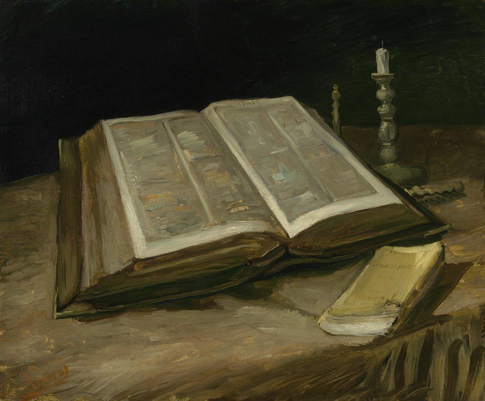 Naturaleza muerta con Biblia, de Vincent Van Gogh, 1885