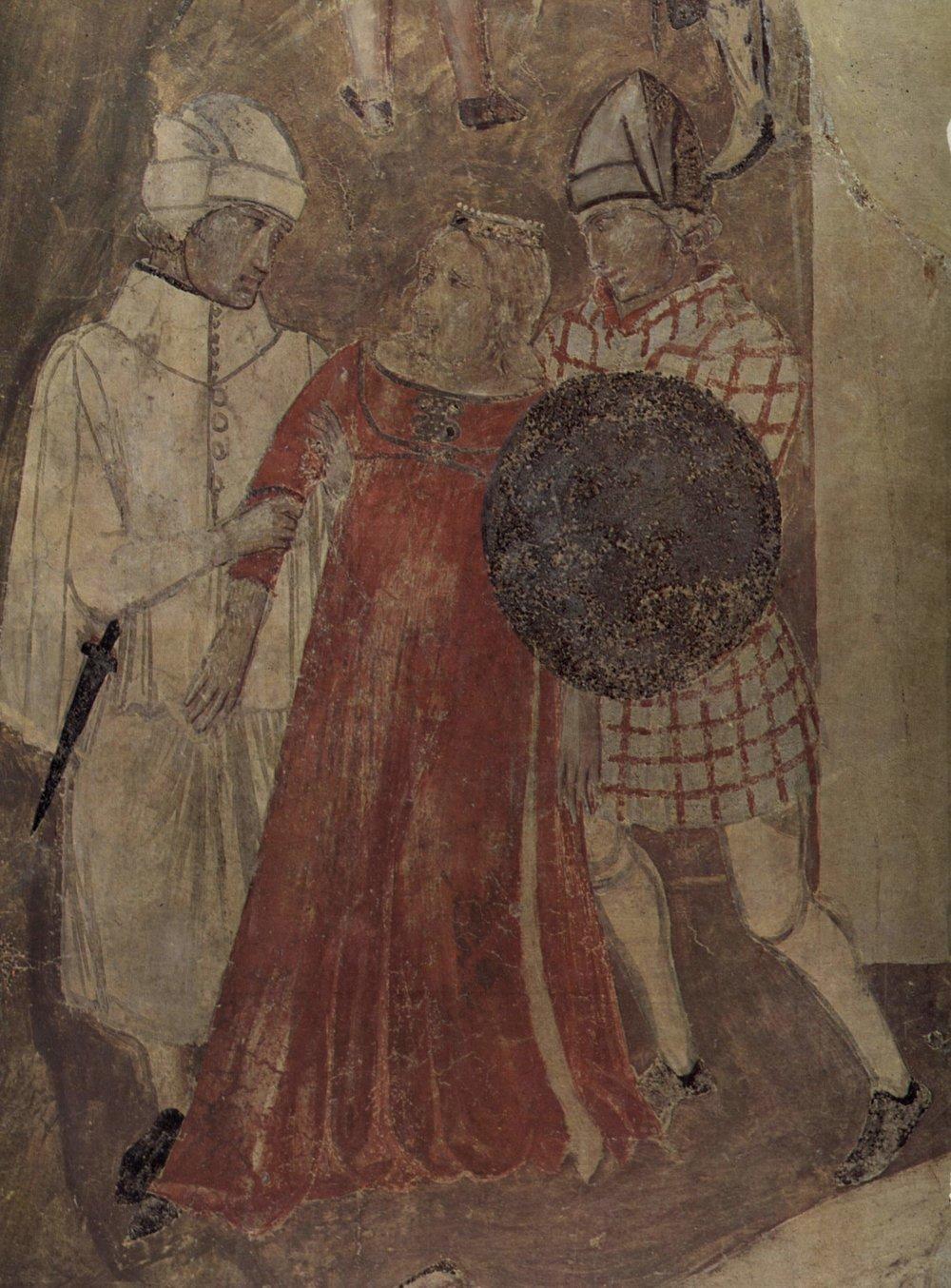 Detalle de los frescos  Del buen y el mal gobierno, de Ambrogio Lorenzetti, 1338-1340