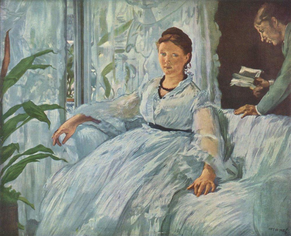 La lectura,  de Édouard Manet, 1865-1873