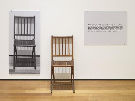 One and Three Chairs, de Joseph Kosuth, 1965 ( fuente ).
