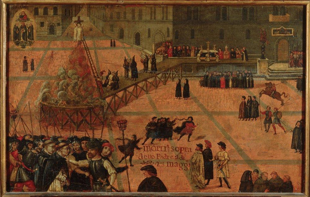 Ejecución de Girolamo Savonarola, de Filippo Dolciati, 1498