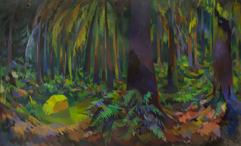 Oakridge Forest  , Oil on Canvas, 6' x 10', 2017. Private Collection.