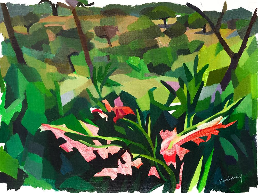 "Flores, Alentejano,   Oil on Paper, 12"" x 16,"" 2014.  Private Collection."