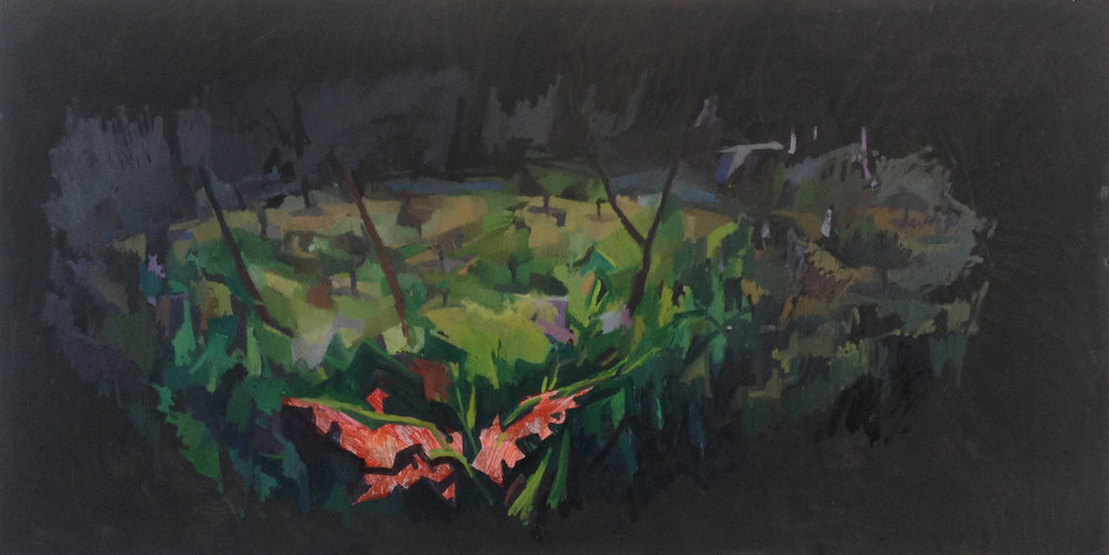 "Portal, Alentejo, Oil on Canvas, 36"" x 72,"" 2015, Available for Purchase"