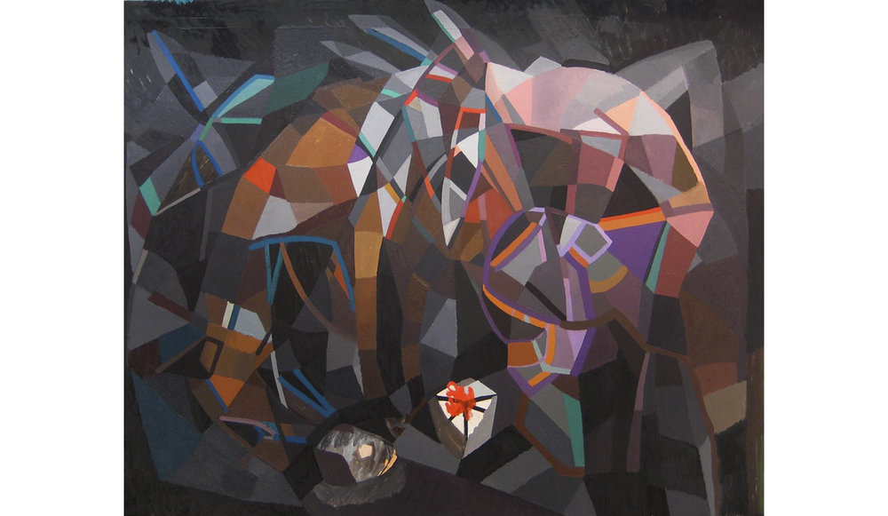 "The Gift Horse  , Oil on Canvas, 48"" x 60,"" 2011, Private Collection"