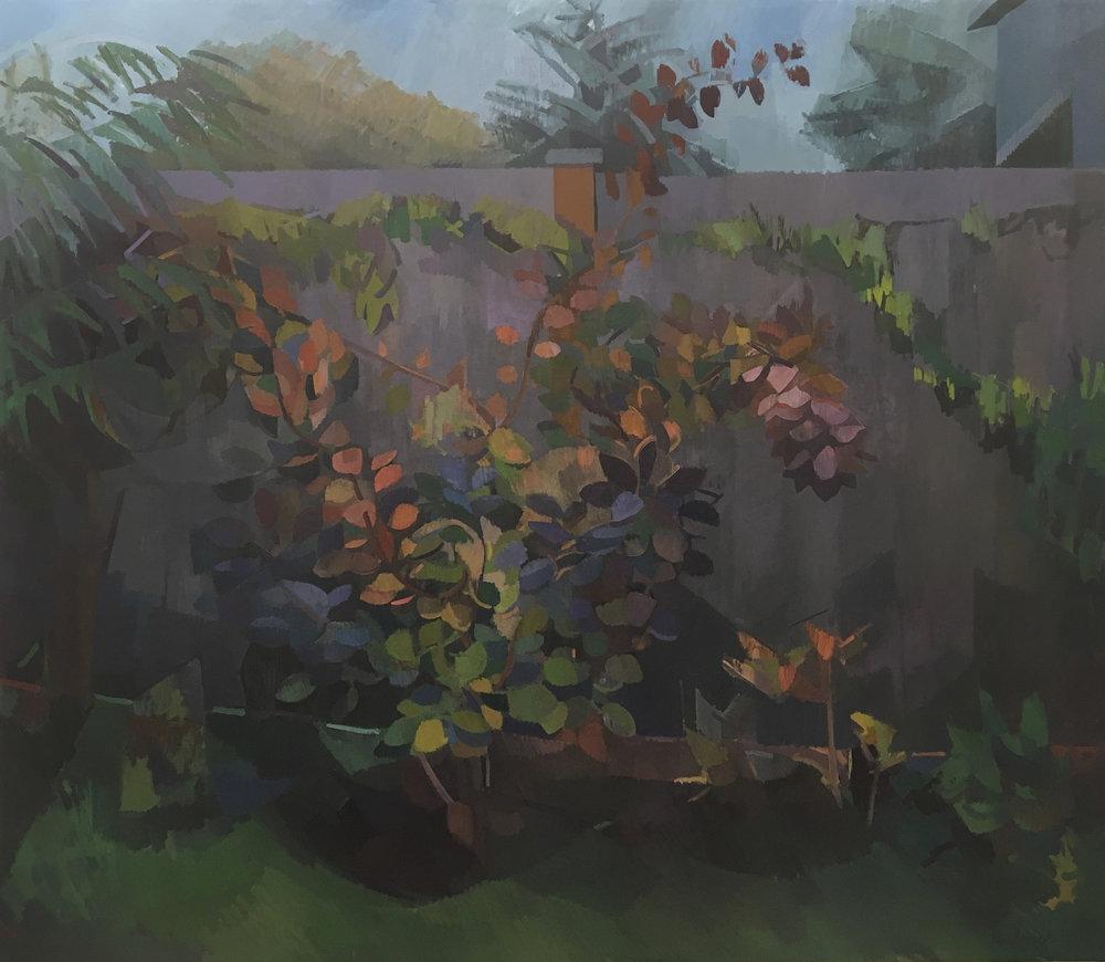 """Smokebush  , Oil on Canvas, 60"""" x 72,"""" 2018.  Private Collection."""