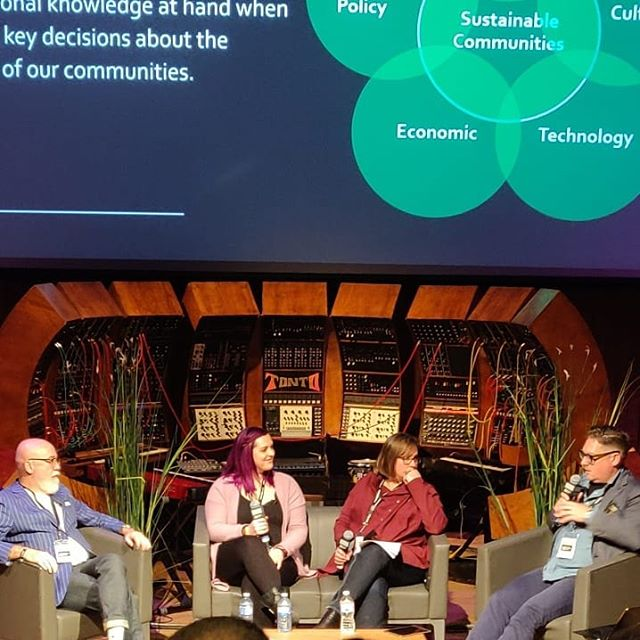 Today our Founder and CEO, and Shelby Young, spoke on a panel with councillor Scott McKeen and Festival and Events director of the City of Edmonton, Nicole Poirer, about moving forward from the proposed rave moratorium and collaborating to ensure safer electronic music events in our City! Thanks @albertaelectronicmusic for bringing Indigo in for a second year!