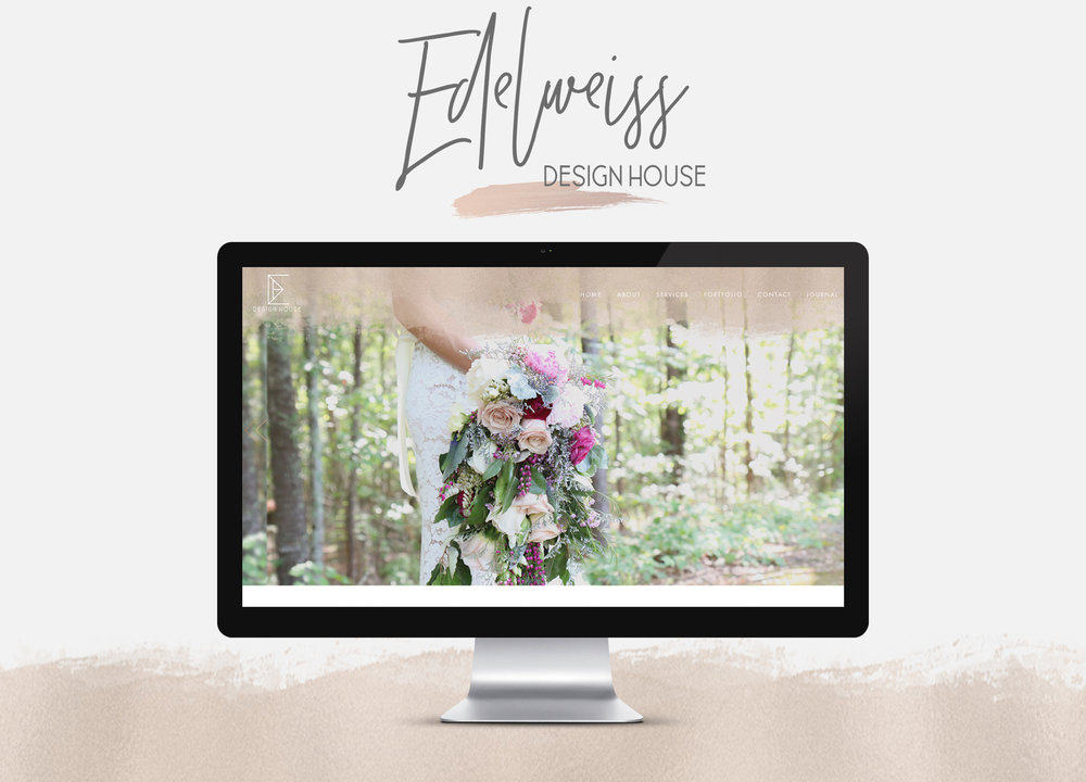 Edelweiss Design House - Branding | Custom Squarespace Design | Photography