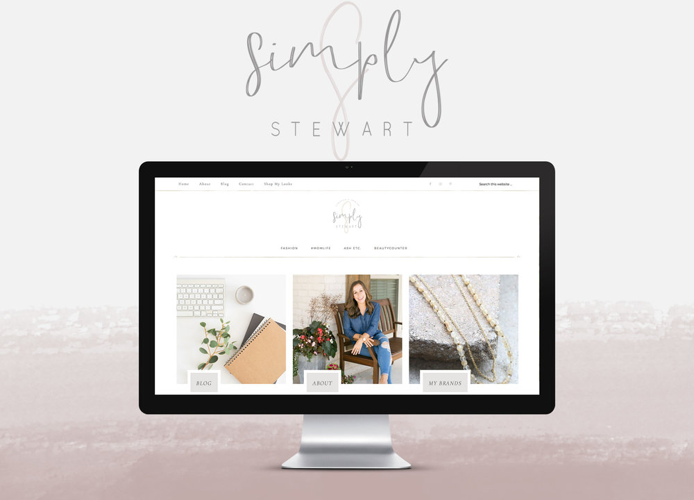 simply stewart - Branding | custom wordpress blog design