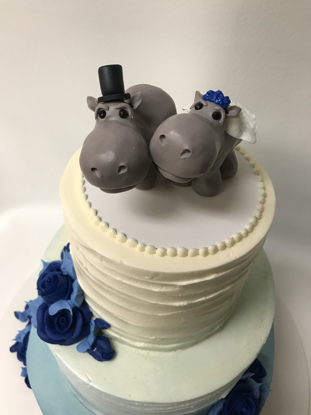 Homespun Hippos, A1 + topper