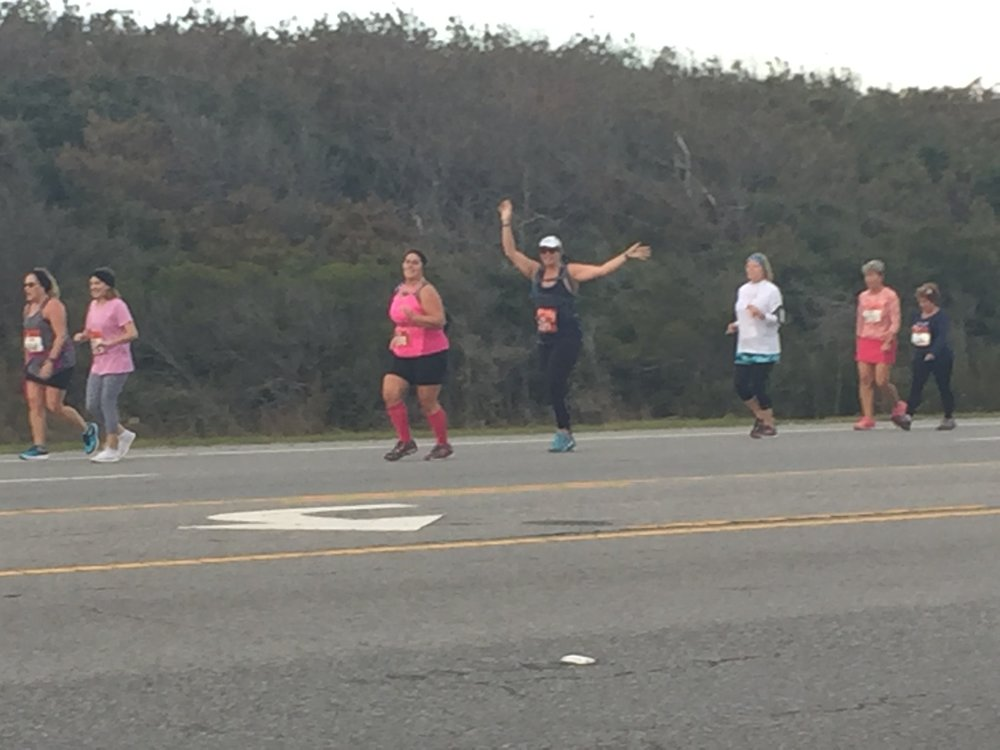 """Run Happy"" (I'm the one with the arms up if you can't tell.)"