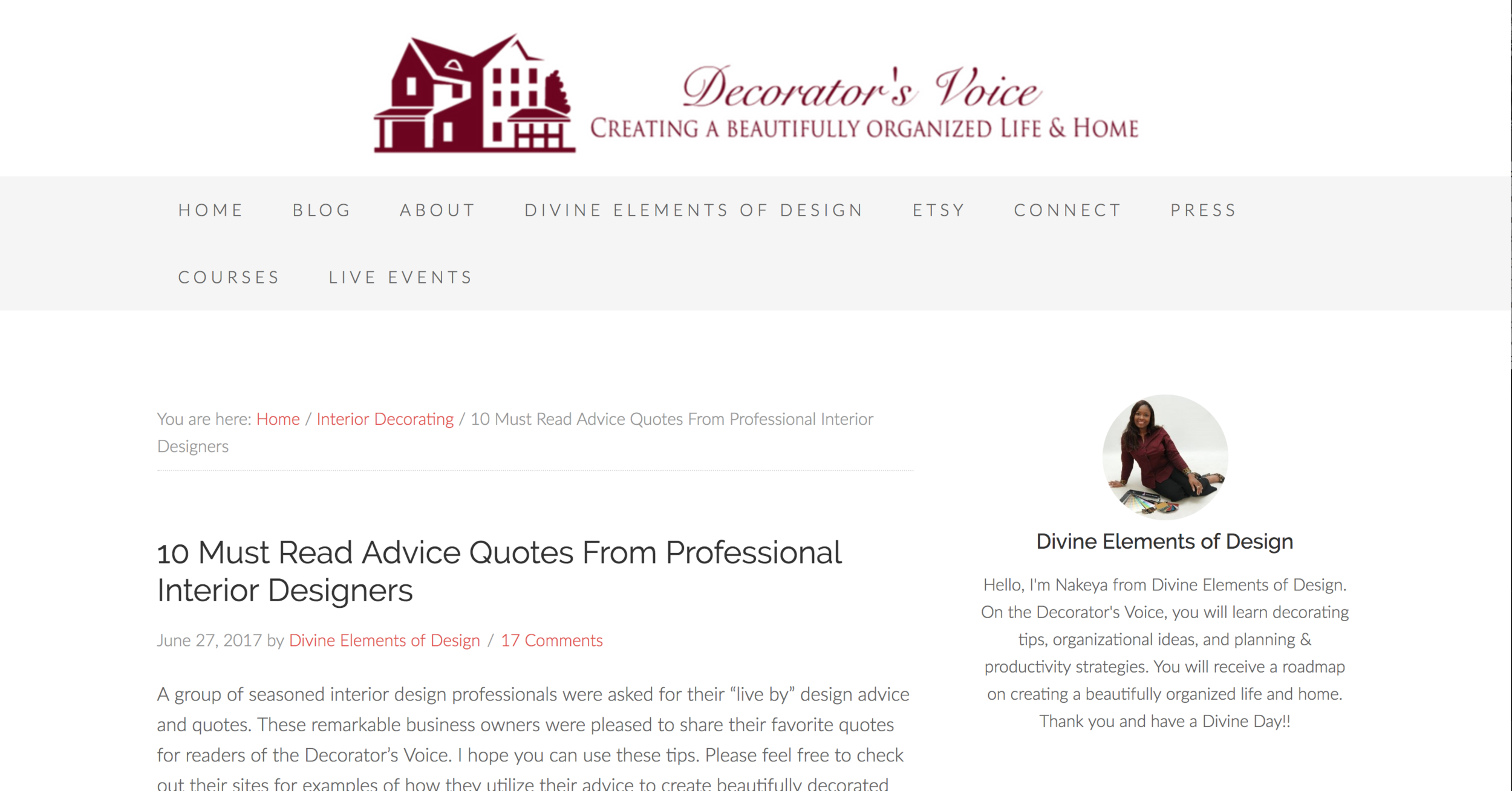 10 Must Read Advice Quotes From Professional Interior Designers U2014 Marina V  Design Studio