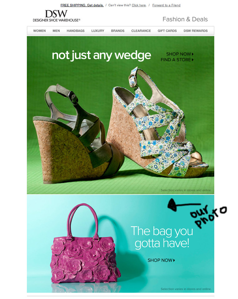 DSW_Email_product