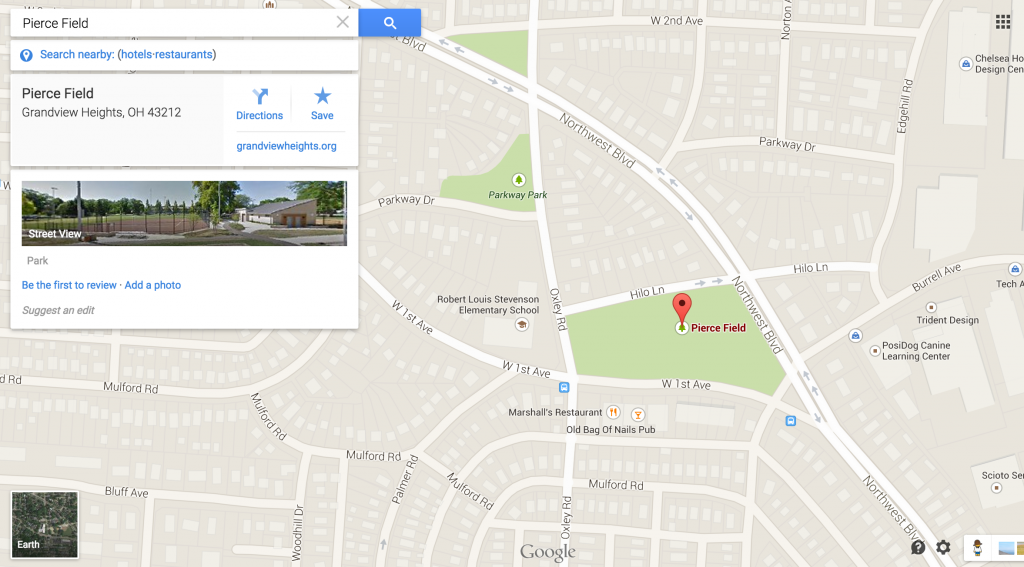 Map for Spring Mini Sessions in Grandview