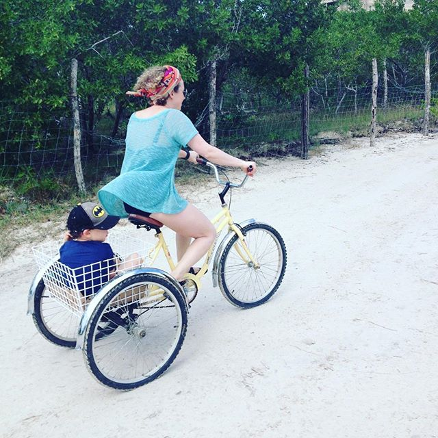 Biking on #holbox. New guide now available. Link in bio.