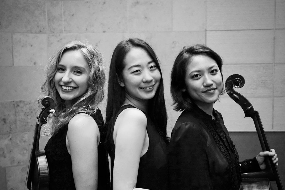 Violinist Maria van der Sloot, pianist Jung-eun Kim and cellist Christine Lee