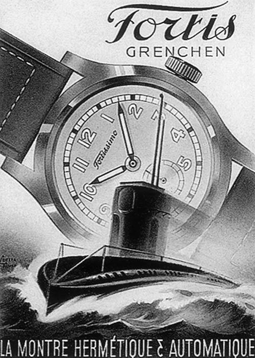 Aus den guten Zeiten: Werbeplakat von Fortis