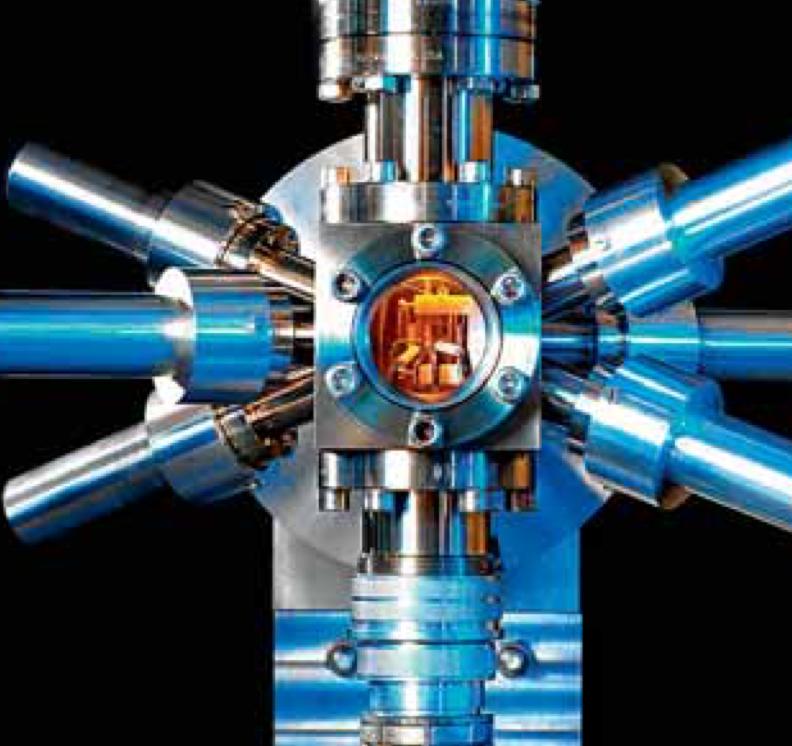 Experimentelle Strontium-Atomuhr oder die aus dem unendlich Kleinen abgeleitete Zeit.
