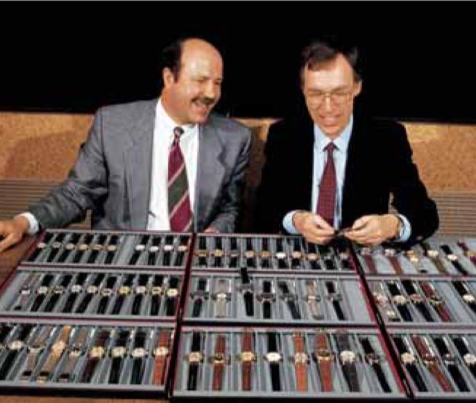 Grâce à un management buy-out, Ulrich W.Herzog et Rolf Portmann ont pu prendre les commandes d'Oris en 1982. Modèle Worldtimer de 1997.