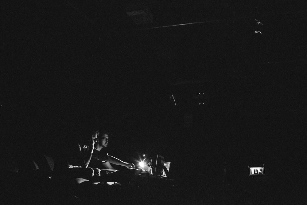 With Joshua Carr (Lighting Designer) Black at  Unity Theatre, Liverpool 2014