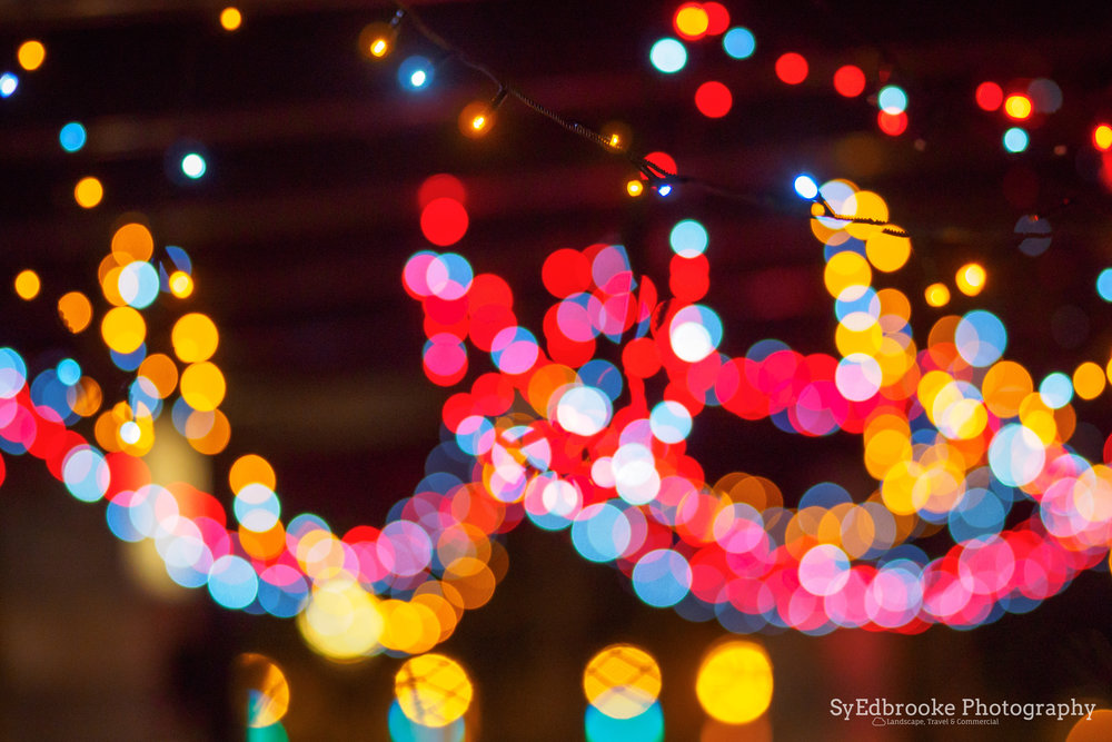 Blurred lights. f1.8, ISO 1600, 1/30, 150mm