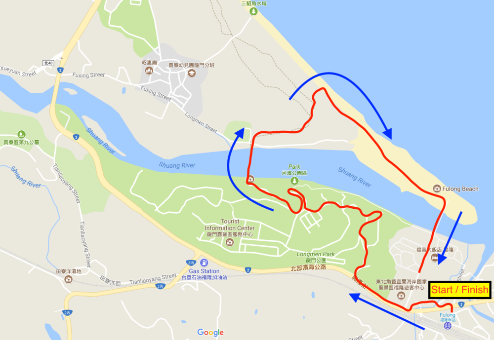 A short little route around the beach to avoid the crowds (mostly)
