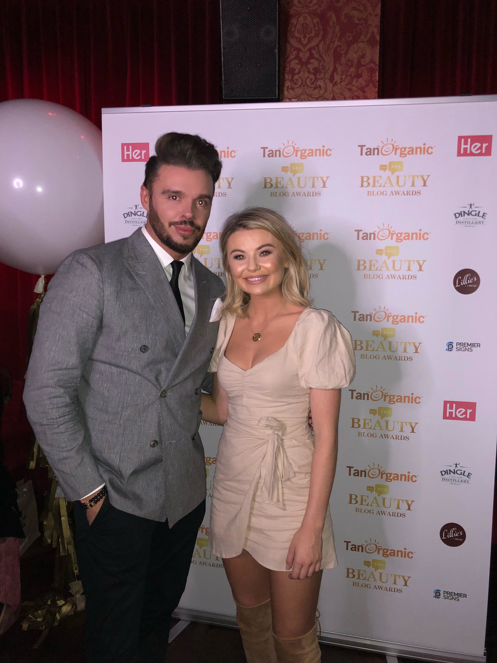 With Georgia Toff at The Beauty Blog Awards
