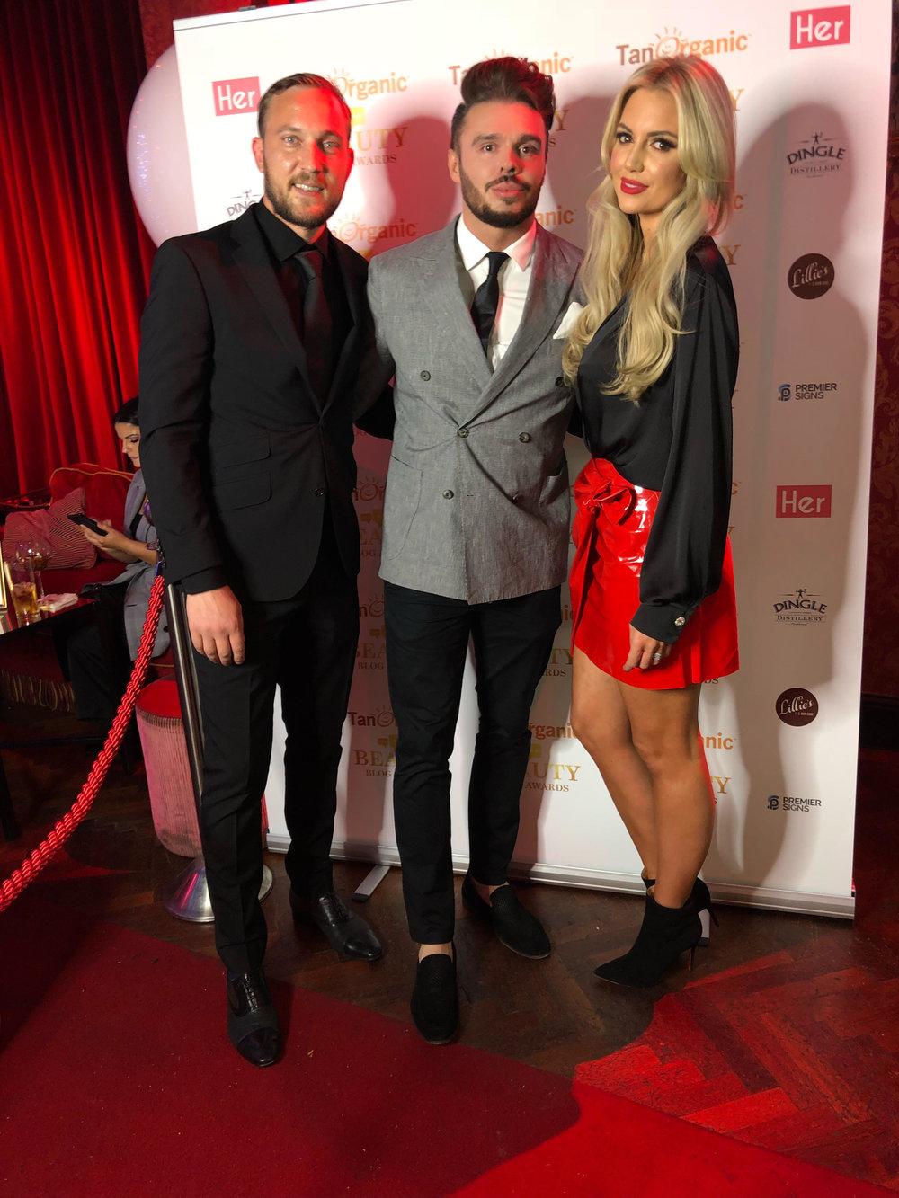 With Mateo Saina and Rosanna Davison at The Beauty Blog Awards
