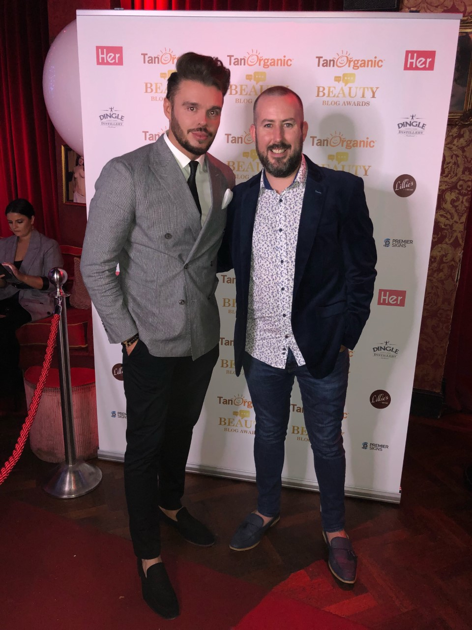 With The Galway Player at The Beauty Blog Awards