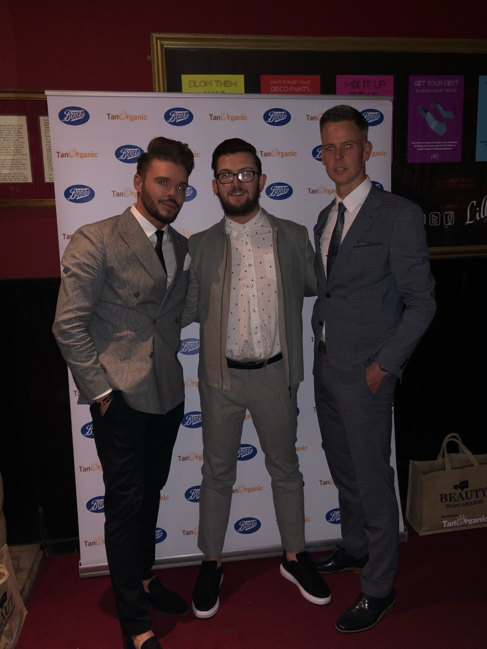 With Dean Kenny and Chris Kavanagh at The Beauty Blog Awards