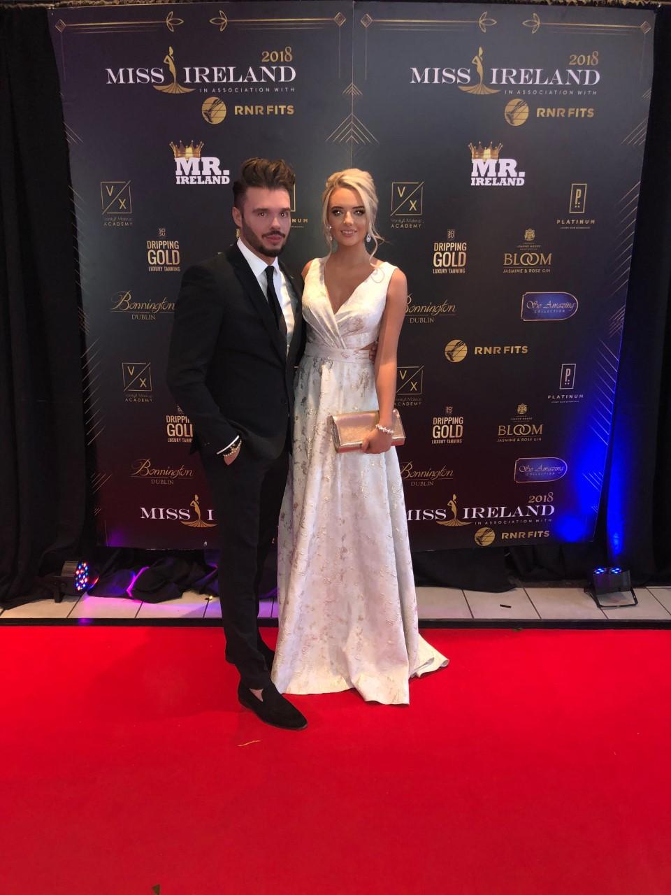 With Tara O'Leary at Miss Ireland 2018