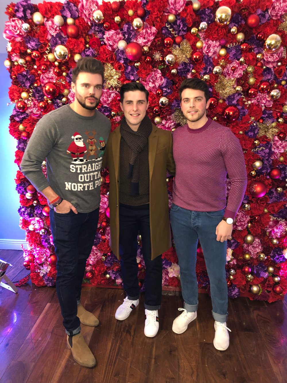 Me in my Penneys Jumper with Diarmuid and Ronan decked out Ted To Toe