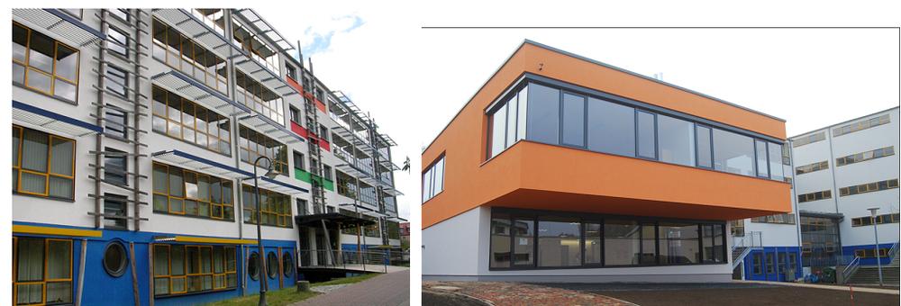 Die sanierte Schule am Gotthunskamp.