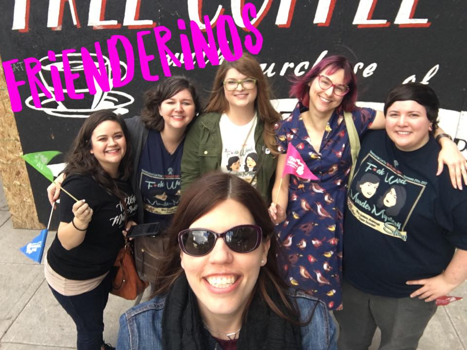 Celebrating Murderino Frienderinos at the live My Favorite Murder show in Detroit, MI on 9/30/17.