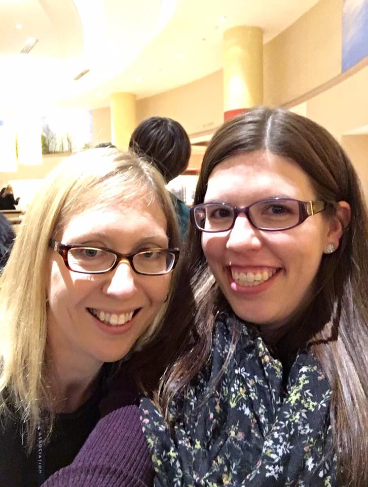 This is my friend, Tara, and I at our national conference. We met in our graduate program and, not only is she still one of my bestest and dearest friends, we work together too!