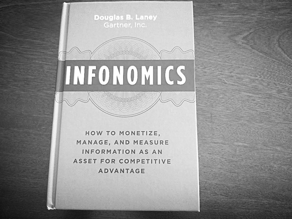 Infonomics book by,  Doug Laney - Gartner Researcher