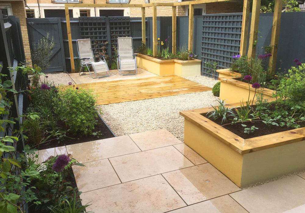 Small Contemporary Courtyard Garden