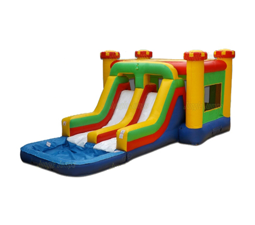 Dual Water Slide/Bouncy House Combo