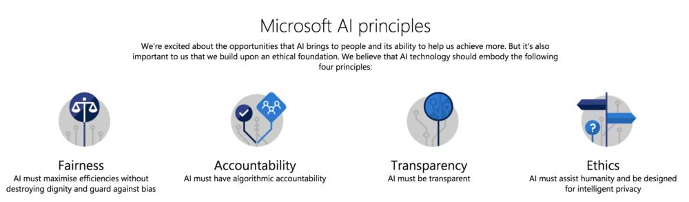 FIG 5   : Microsoft's AI principles (Source: Microsoft)