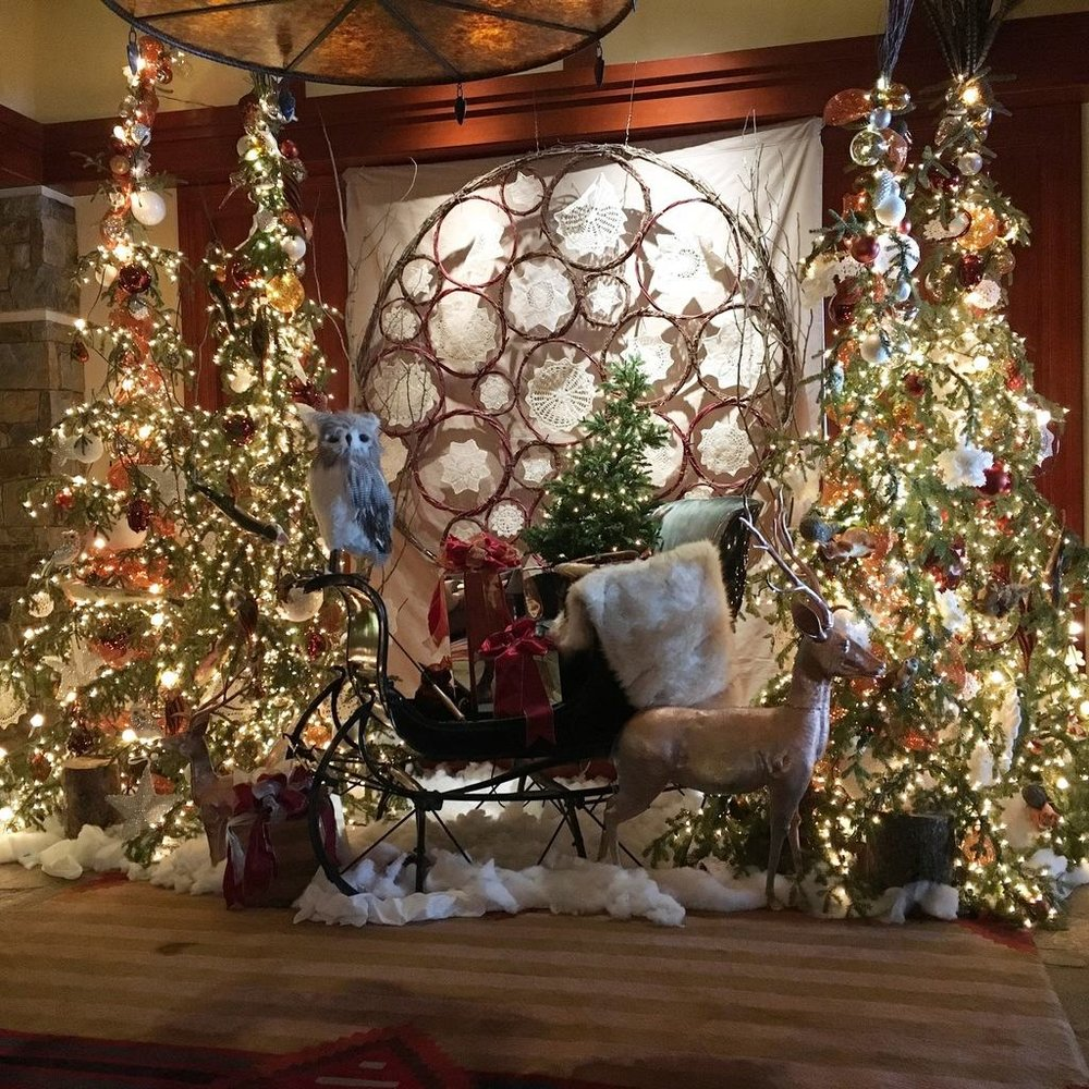 The holiday display at the Four Seasons in Teton Village (Jackson Hole Resort, WY)