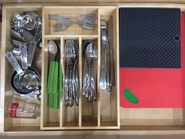 Airstream Kitchen Organization: Silverware Drawer