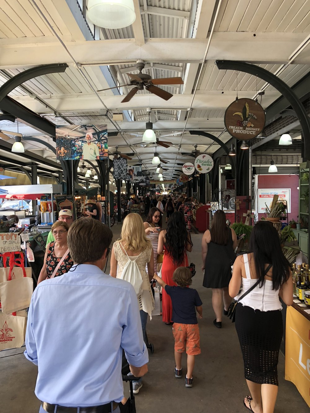 Entering the French Market in New Orleans