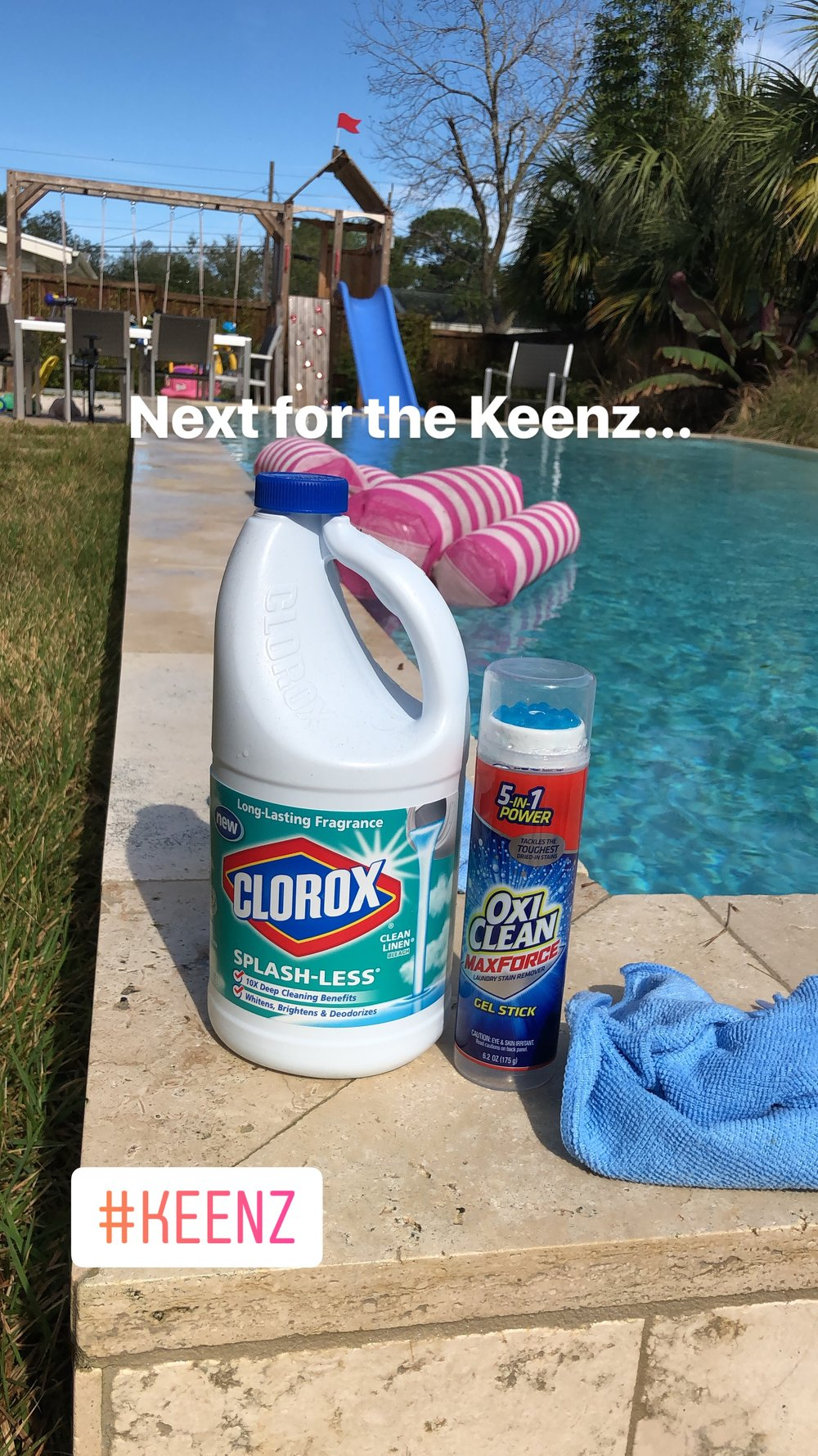 After using Dawn I needed to try bleach and OxiClean. I used a very small amount of bleach.