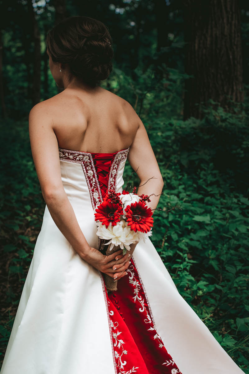 That Dress though, Beautiful in Red and White.