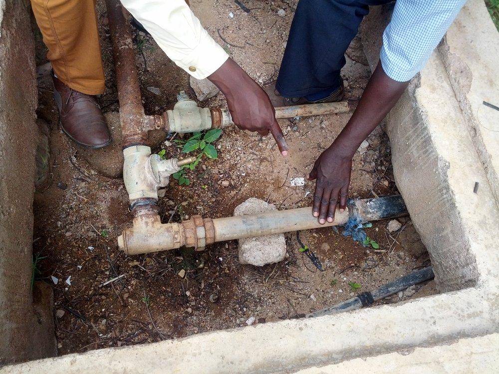 Water pump installation -