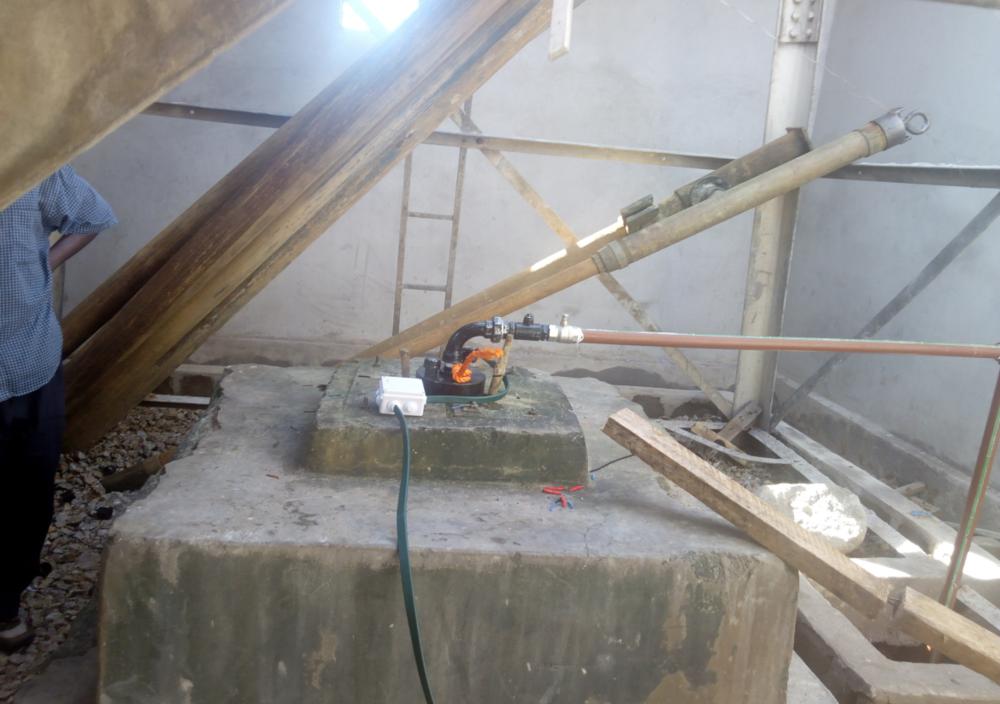 external view of the pump